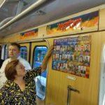 В харківському метро з'явився вагон із фото загиблих на Донбасі воїнів