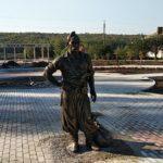 В Бахмуті з'явився постамент козака