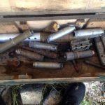 Поліцейські вилучили у жителя Красногорівки ящик боєприпасів