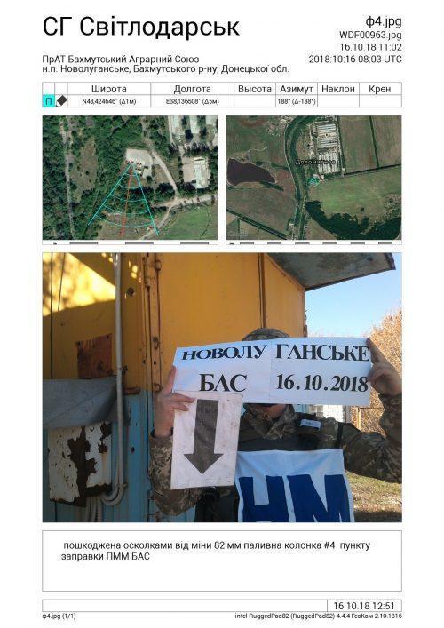 """МІНА ВЛУЧИЛА В """"БАХМУТСЬКИЙ АГРАРНИЙ СОЮЗ"""" в Новолуганському"""