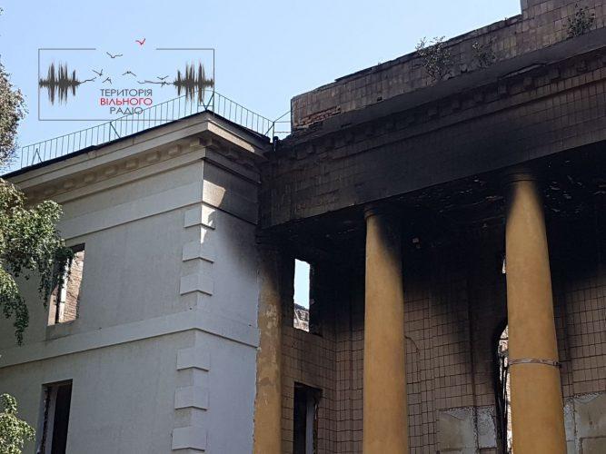 В Бахмуті загасили пожежу та чекають не експертів