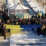 В Бахмуте более сотни человек объединились в акции к годовщине дня соборности Украины