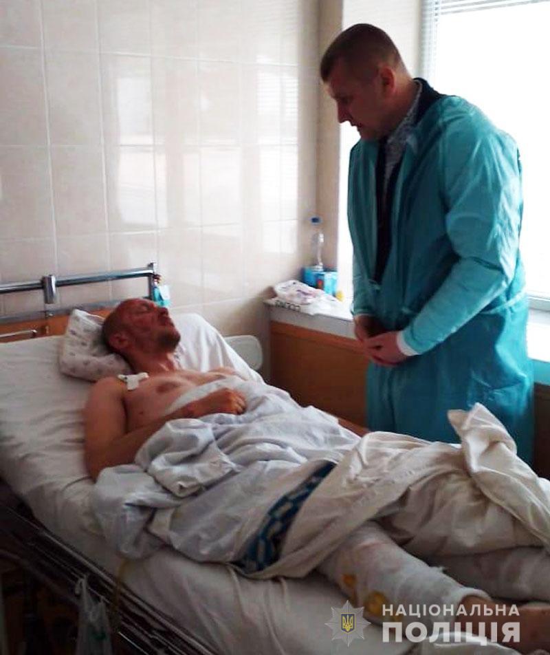 Поліцейські, які вижили після вибуху в Ясинуватському районі, почувають себе стабільно