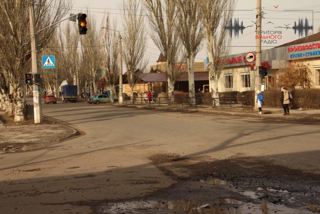 В Бахмуті Донецької області майже нема розмітки