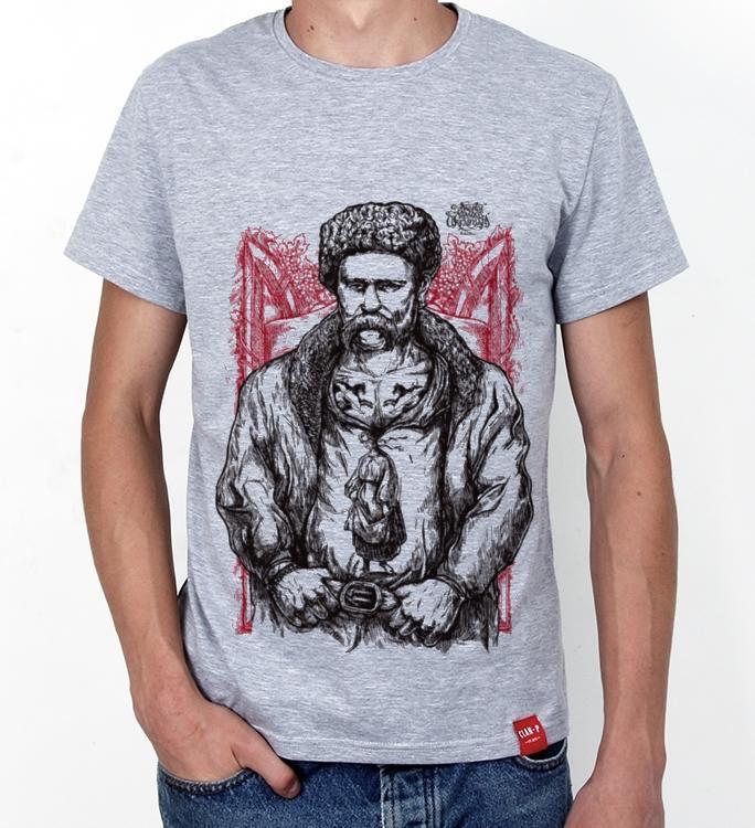 Принт Тарас Шевченко на футболку