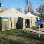 Військові намети та українські пісні. Як голосують виборці у військовій частині в Бахмуті