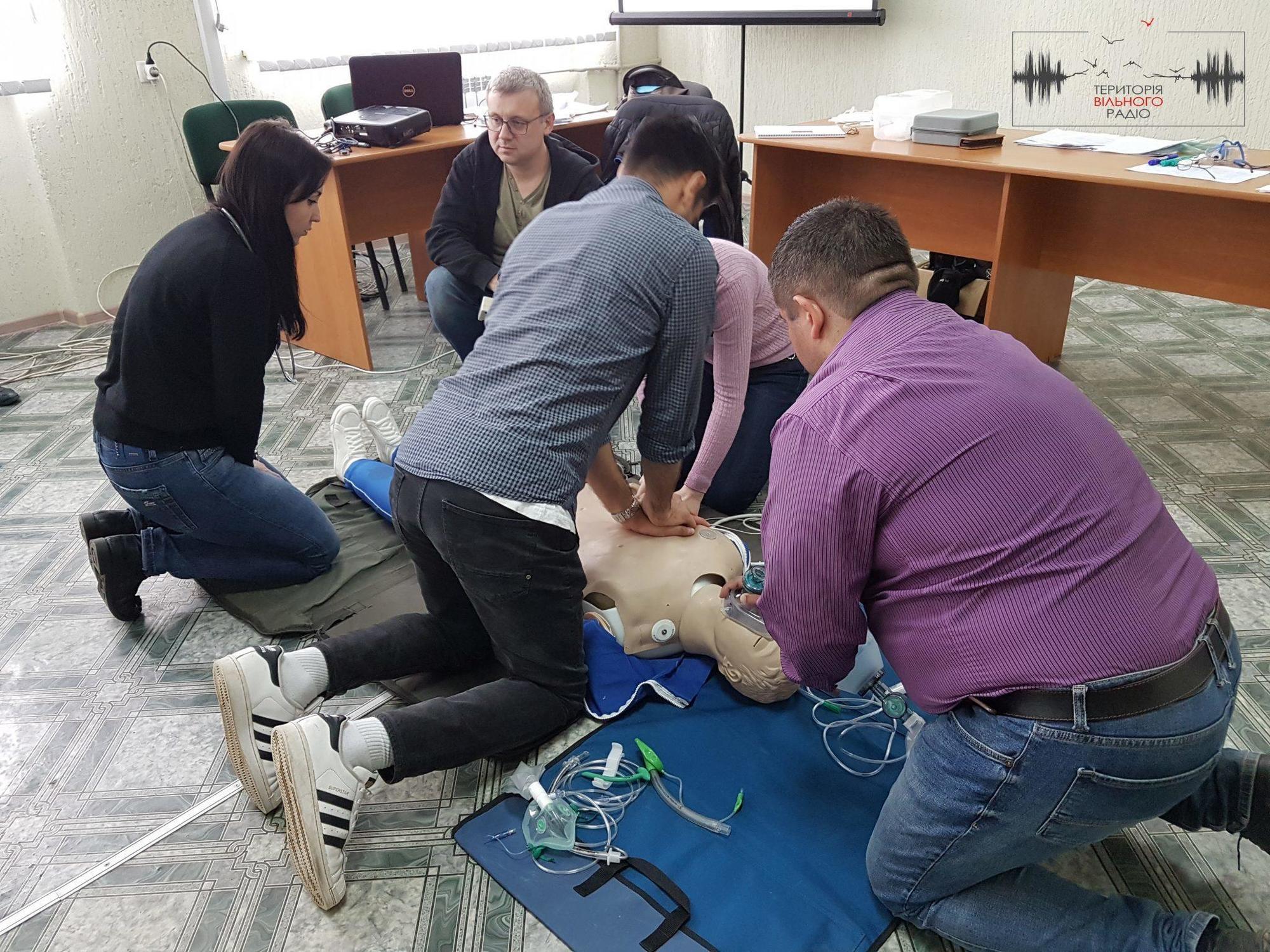 В Бахмуті пройшли курси від МКЧХ з лікарями