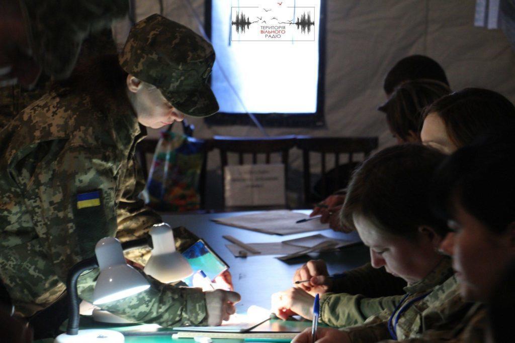 Військовий госпіталь на Донеччині вибирає Президента/Фото: Анастасія Шибіко, Вільне радіо