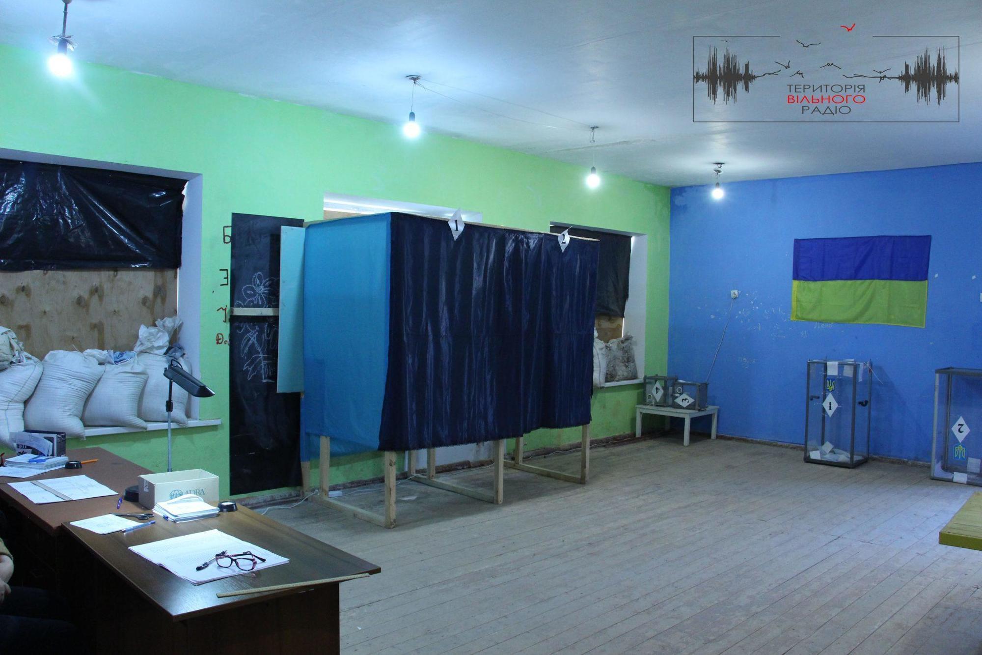 Голосування на Донбасі, Голосування в ООС, голосування в Зайцевому