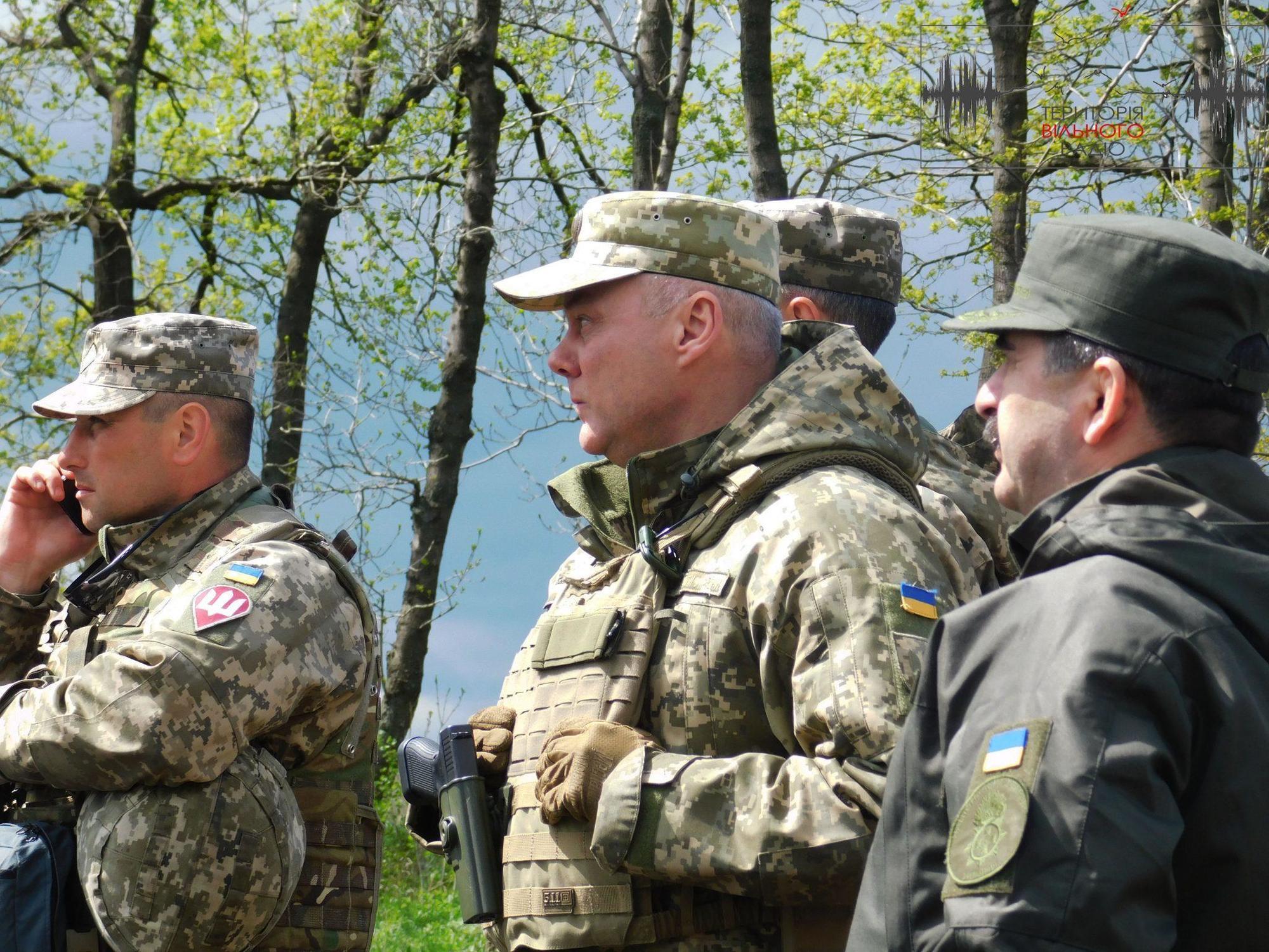 Демонстрація бойових навичок на Донеччині