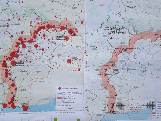 У Бахмуті, що на Донеччині сапери зробили акцію щодо мінної безпеки