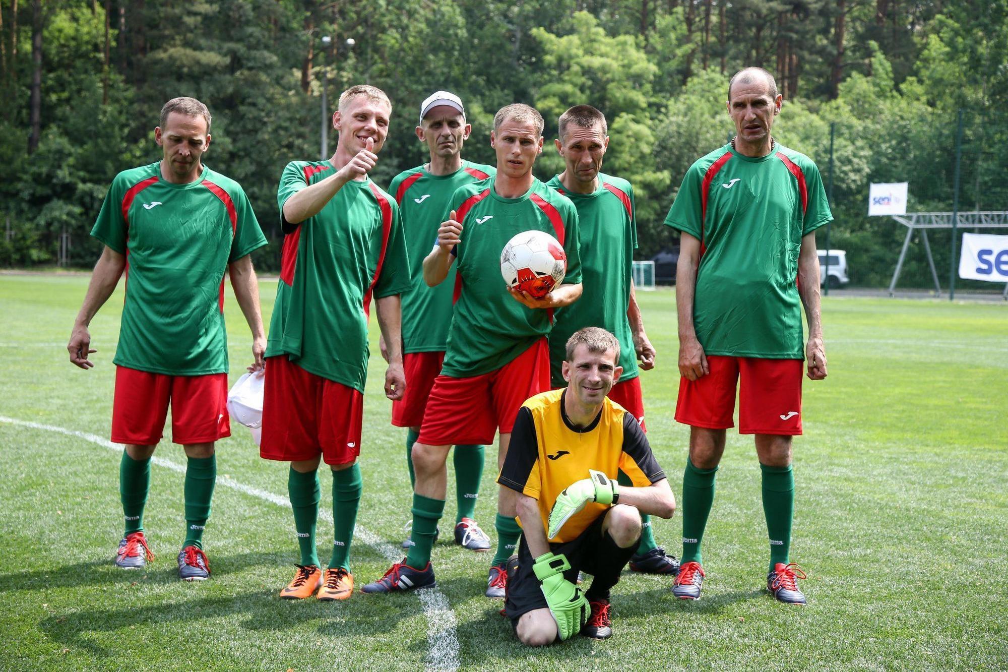 команда футболістів бахмуського психоневрологічного інтернату