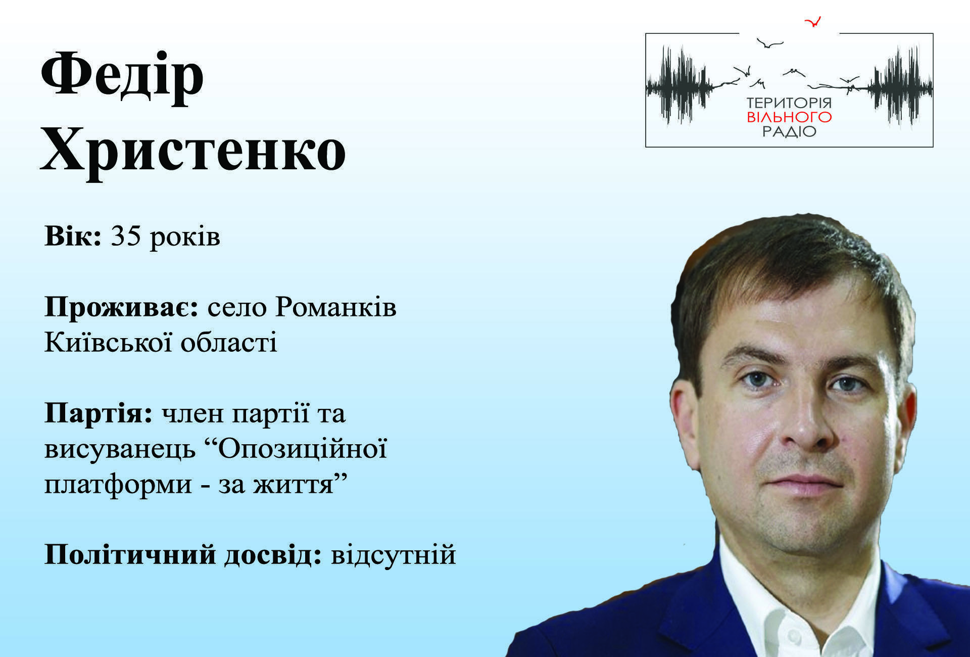 Федір Христенко 46 виборчий округ Опозиційна платформа- за життя