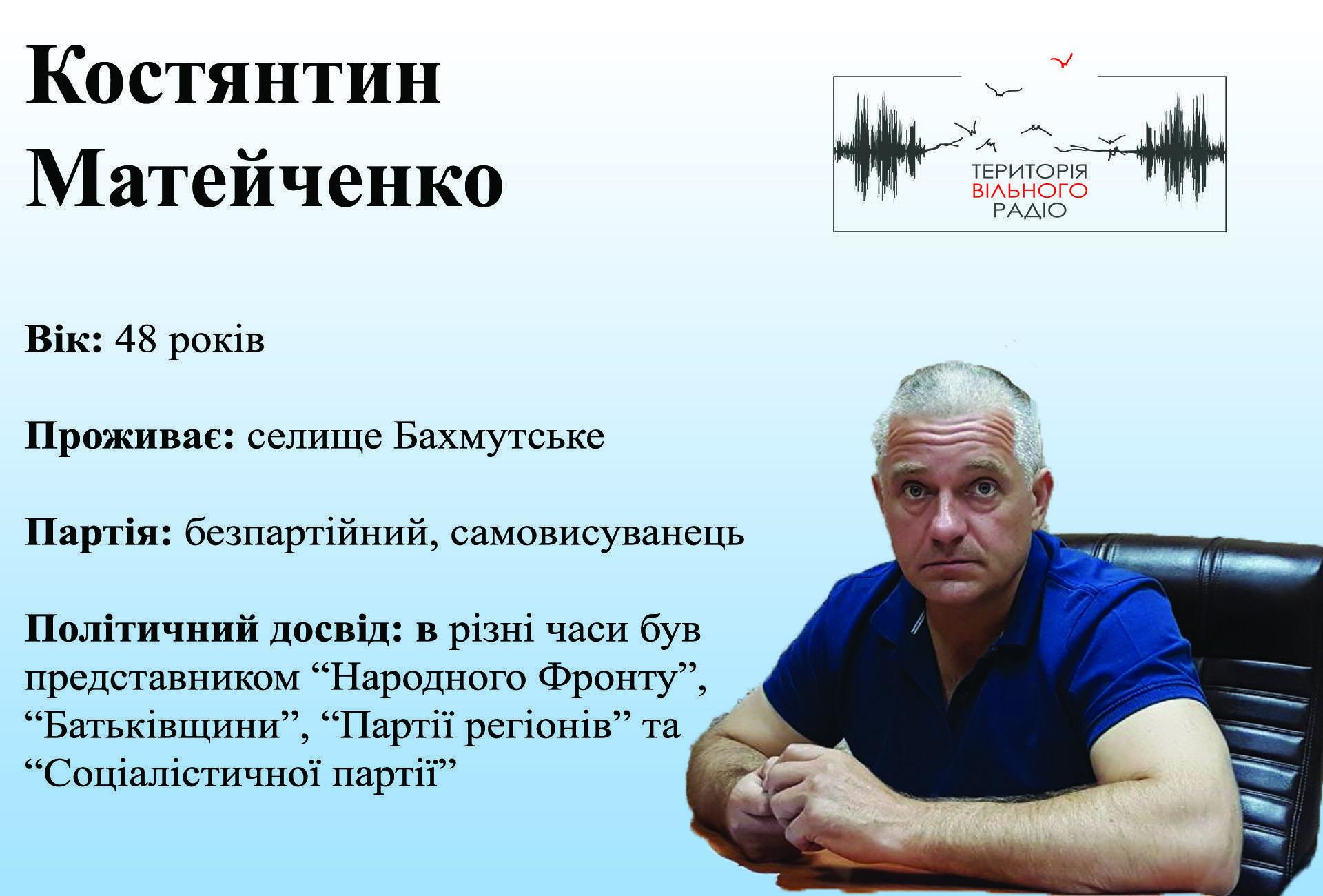 Костянтин Матейченко 46 виборчий округ