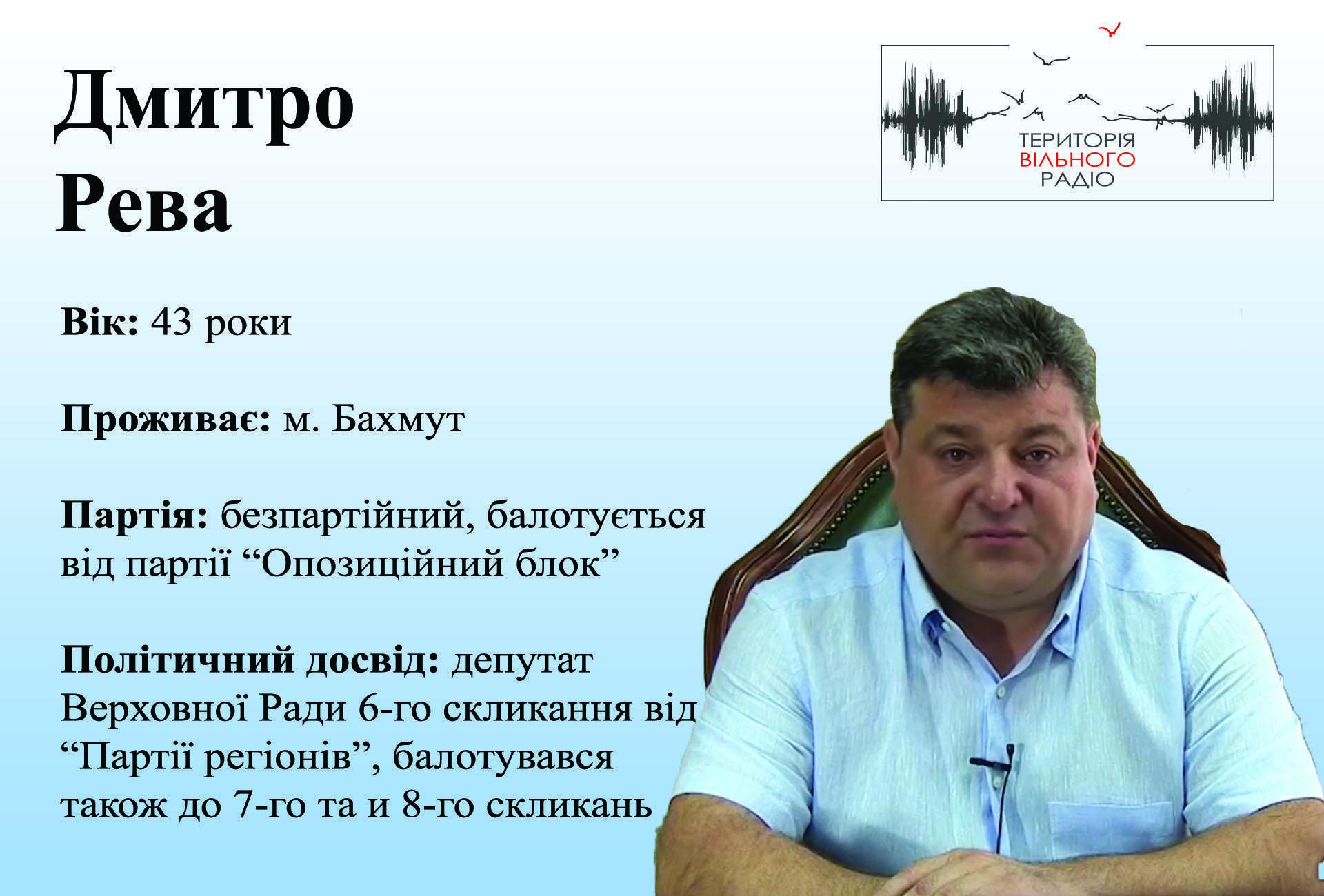 Дмитро Рева 46 виборчий округ