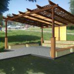 В Мирнограде строят первое в городе публичное пространство