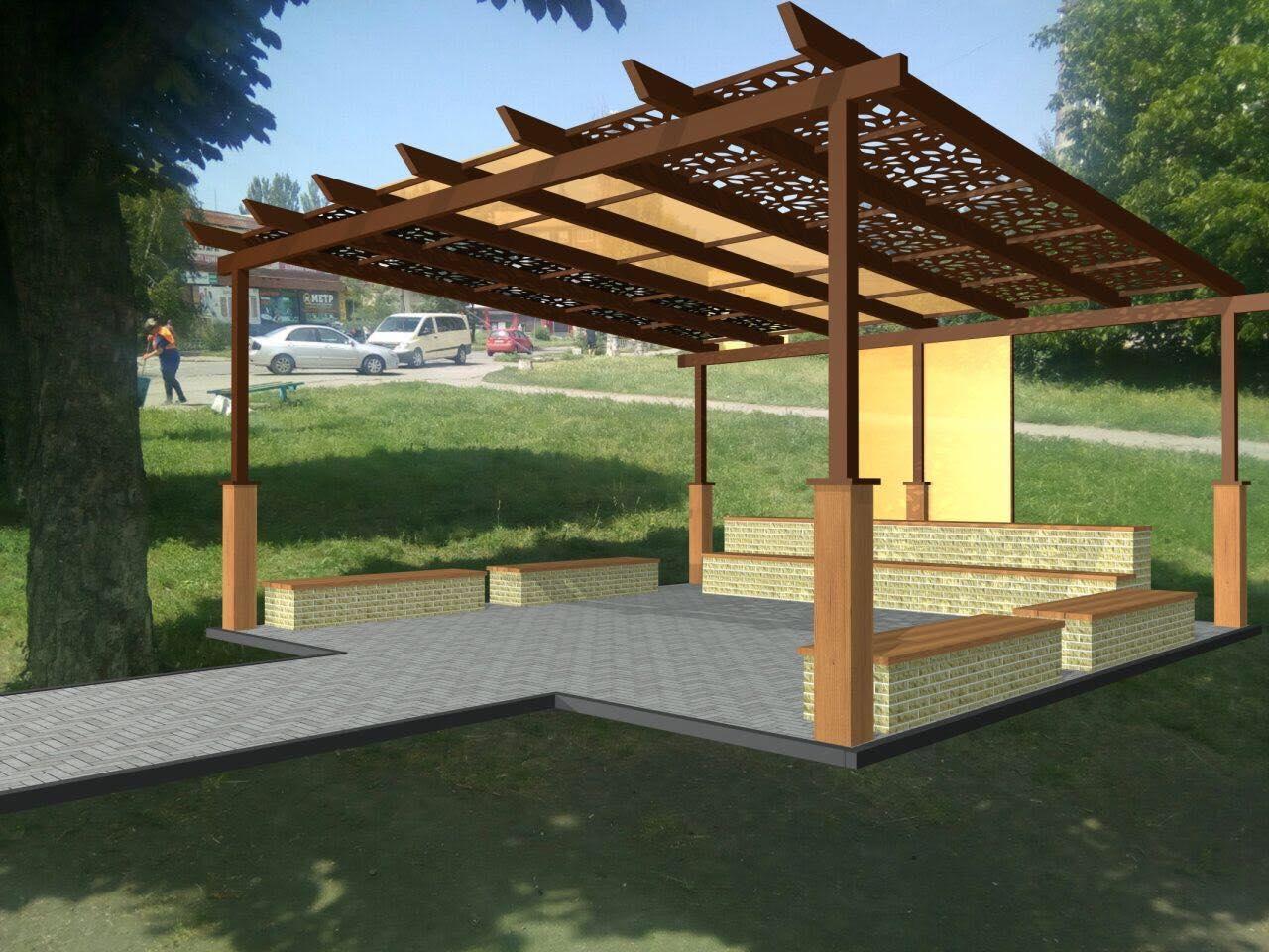 У Мирнограді будують перший у місті публічний простір