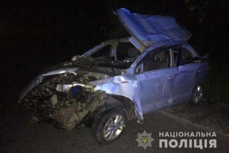 Смертельне ДТП на Донеччині: Автомобіль вилетів у кювет. Одна людина померла, ще четверо — в лікарні