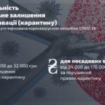 Штраф или тюрьма: в Украине хотят наказывать за нарушение правил карантина