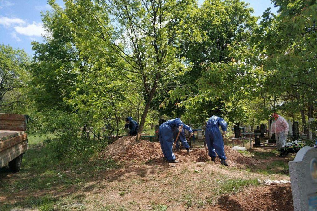 похорон кладовище COVID-19