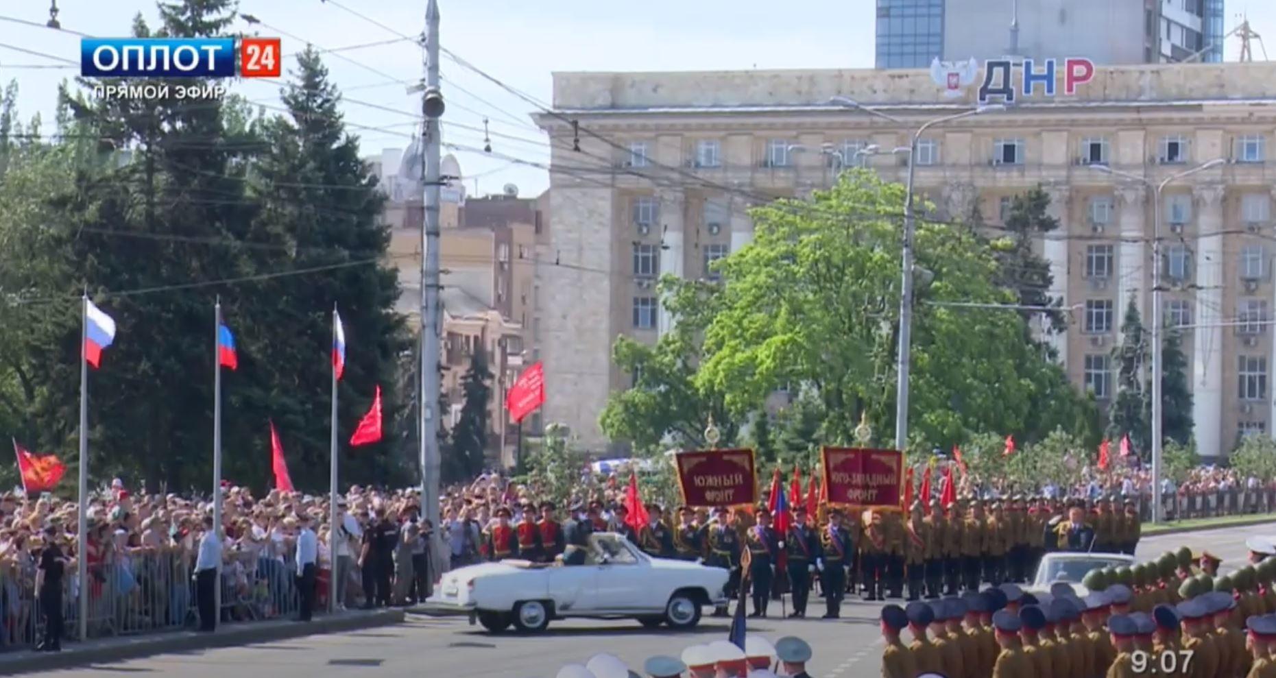 Попри спалах коронавірусу в окупованому Донецьку та Луганську проводять парад перемоги