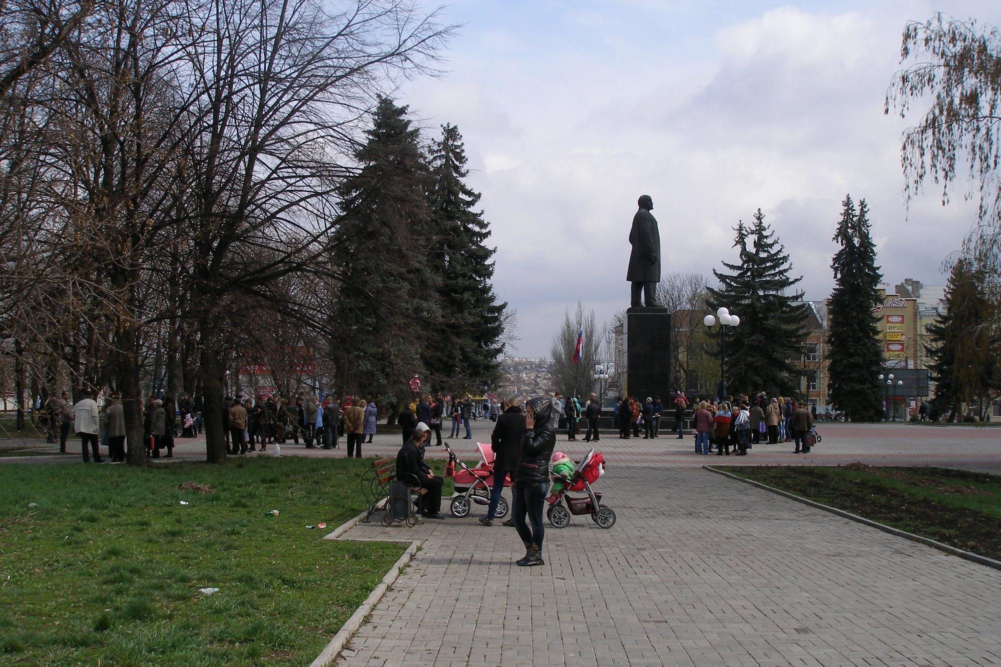 проросійський мітинг статуя Леніну Артемівськ Бахмут