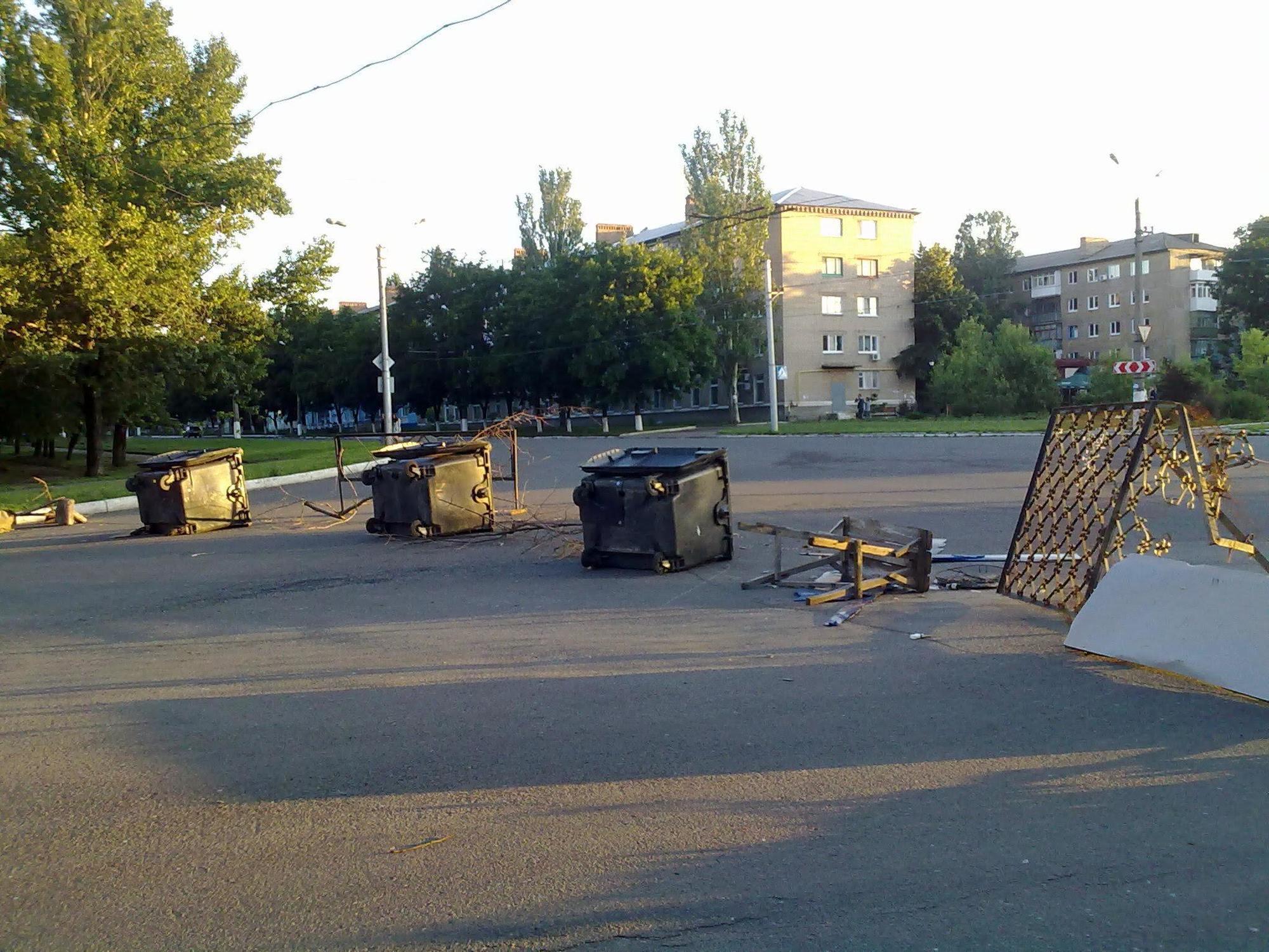 Бахмут окупація ДНР барикади