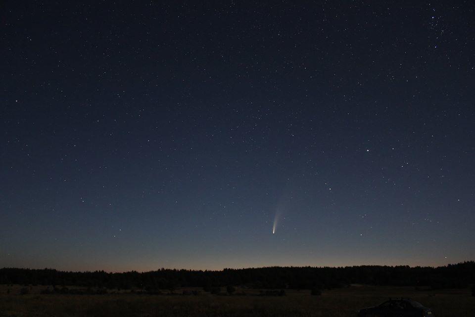комета NEOWISE нічне небо Донбас