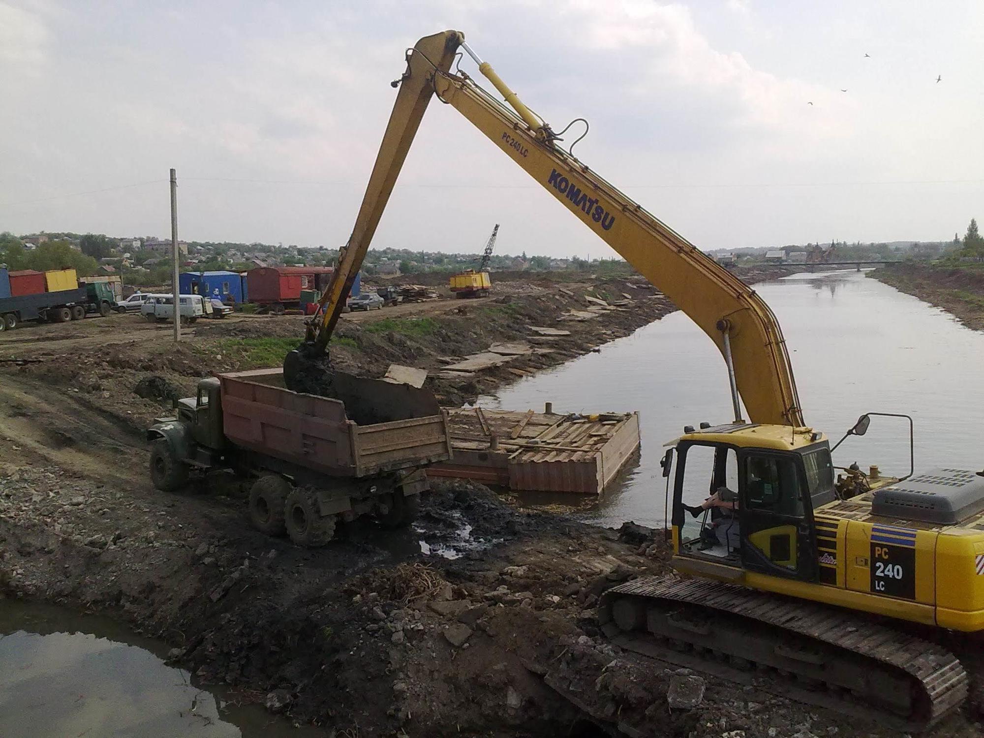 земляні роботи ріка Бахмутка Артемівськ