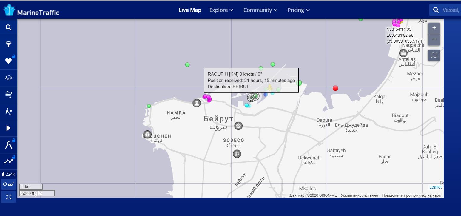 Вибух у Лівані: у порту Бейрута стояли 2 судна, які прибули з Маріуполя. Чи є постраждалі українці