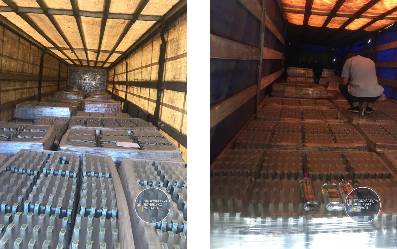 На Донеччині впіймали контрабандистів з алкоголем на понад 5,5 млн грн (ФОТО)