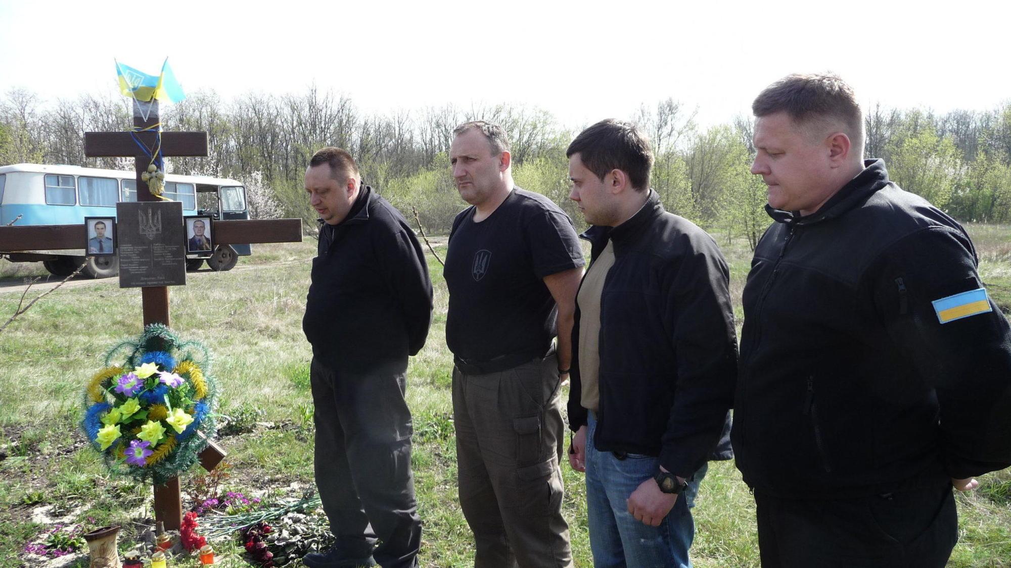 співробітники СБУ хрест перший бій АТО Семенівка Слов'янськ