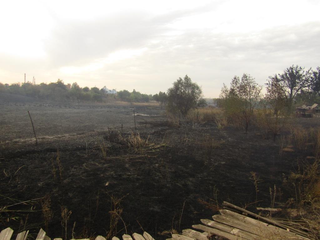 пожар трава Бахмутский район Гладосово пожарище