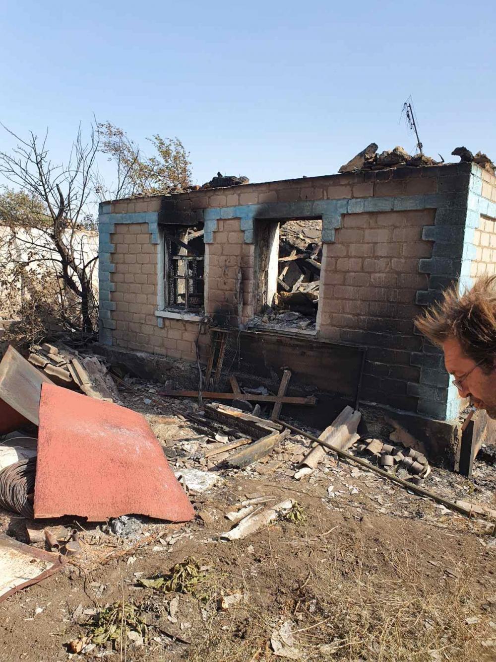 житель Гладосово погорелец сгоревший дом последствия пожара