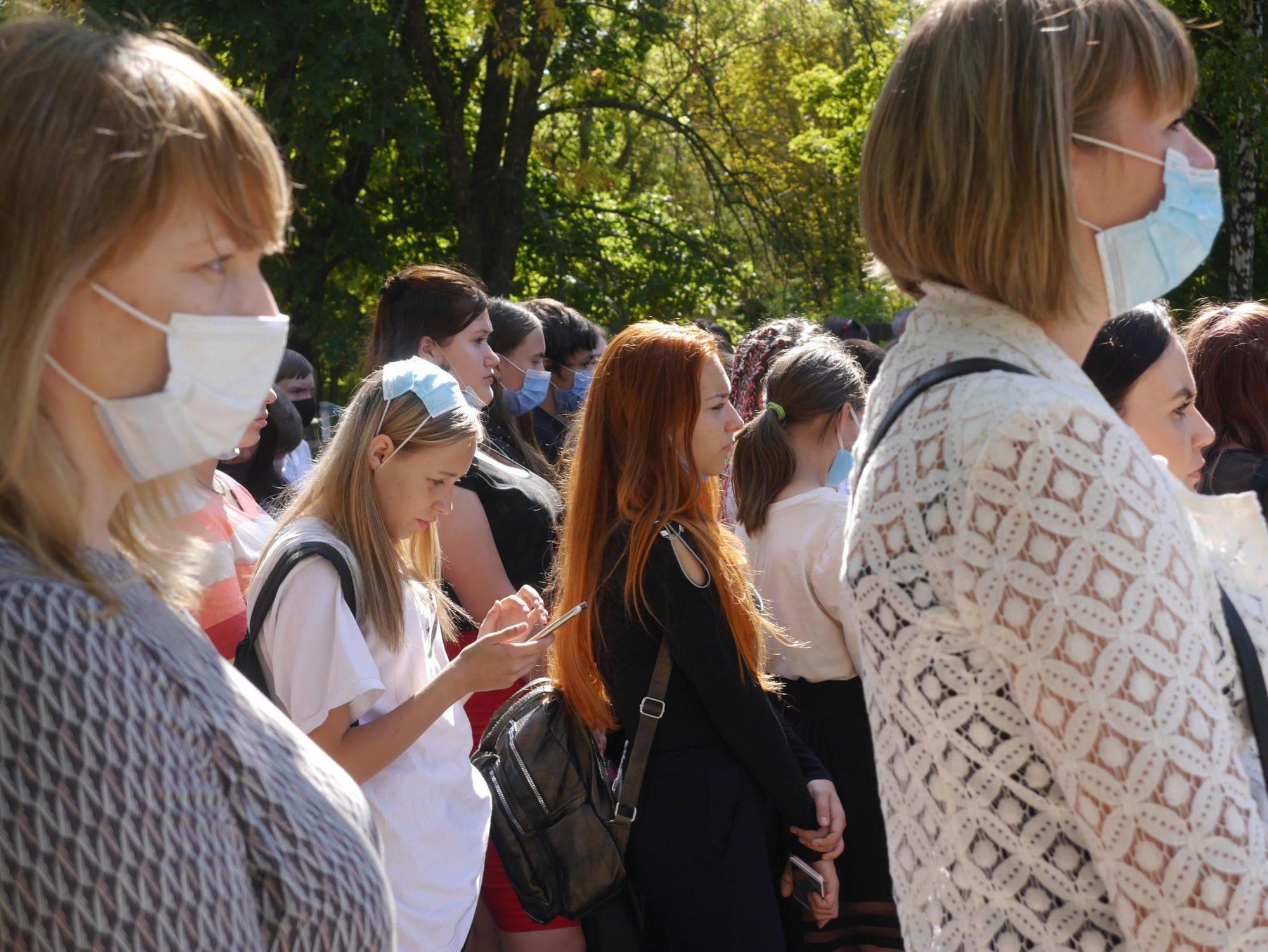масковий режим пандемія студенти Бахмута мітинг-реквієм