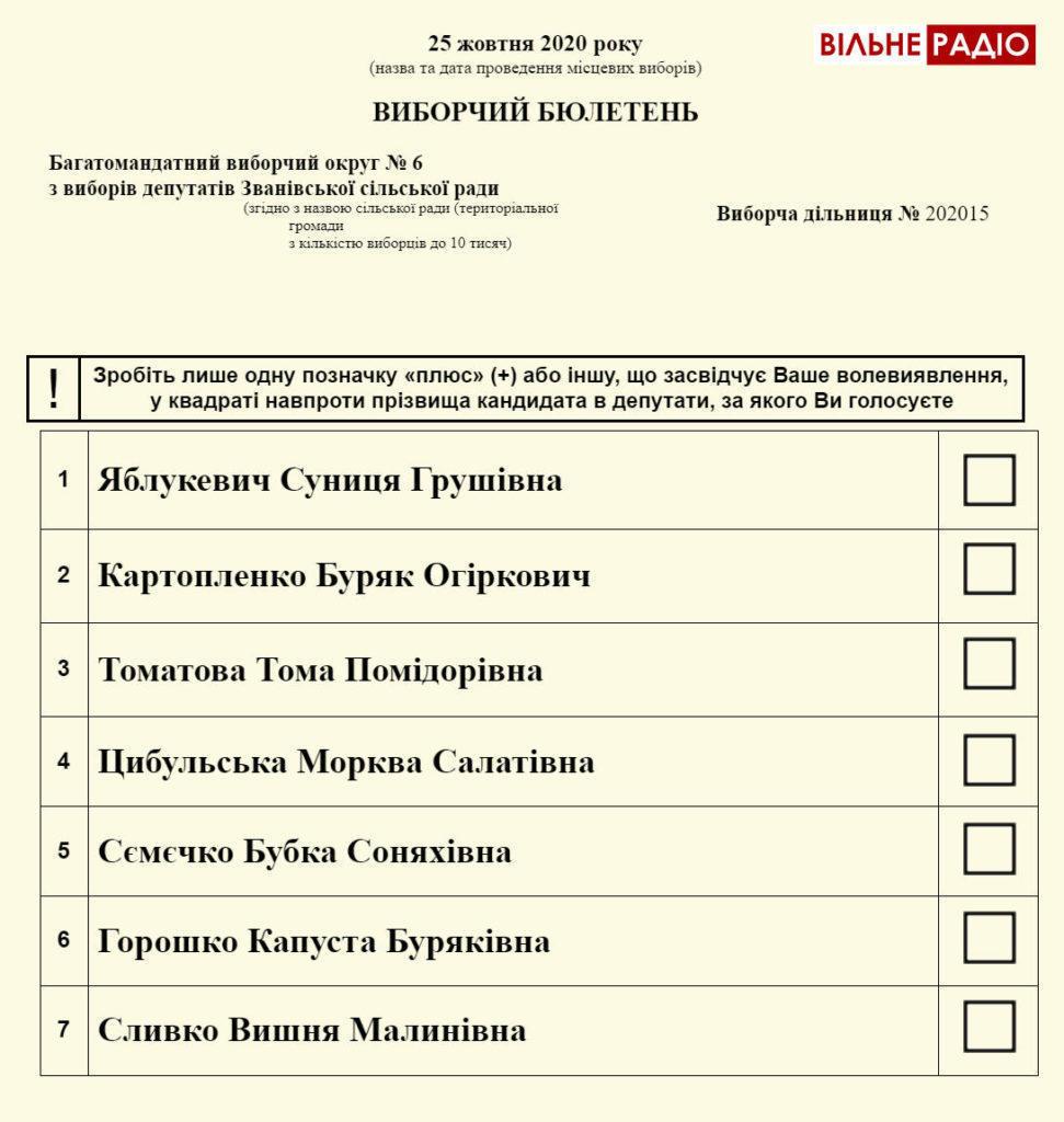 Кремові депутати та рожеві голови: на місцевих виборах будуть різнокольорові бюлетені (макети)