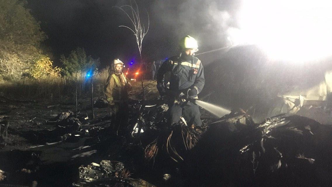 пожежа катастрофа літака Чугуїв вогнеборець ДСНС