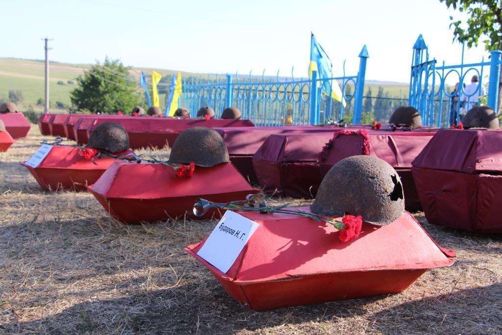 перезахоронение останки погибших гробы Вторая мировая война Донбасс нацизм