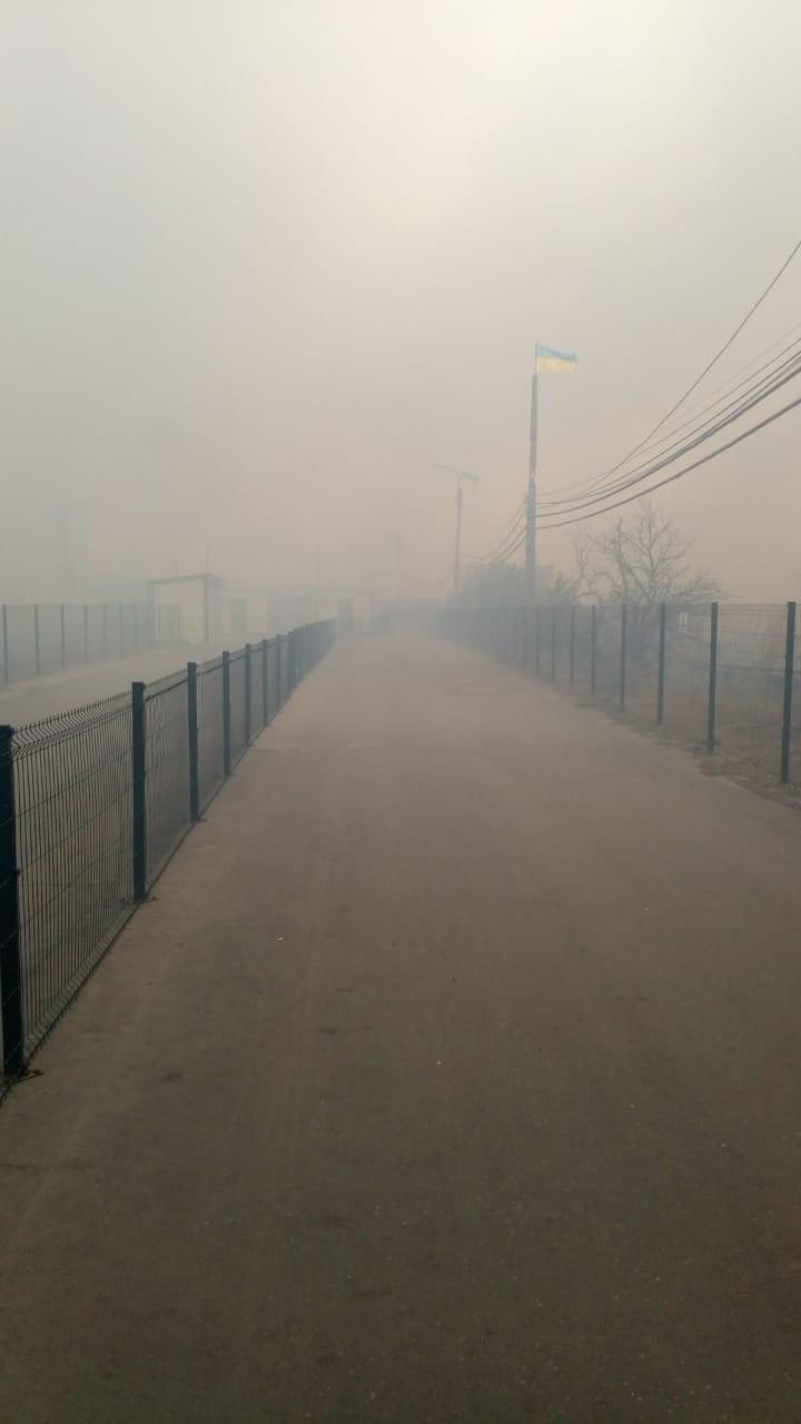 пожежа на КПВВ Станиця Луганська