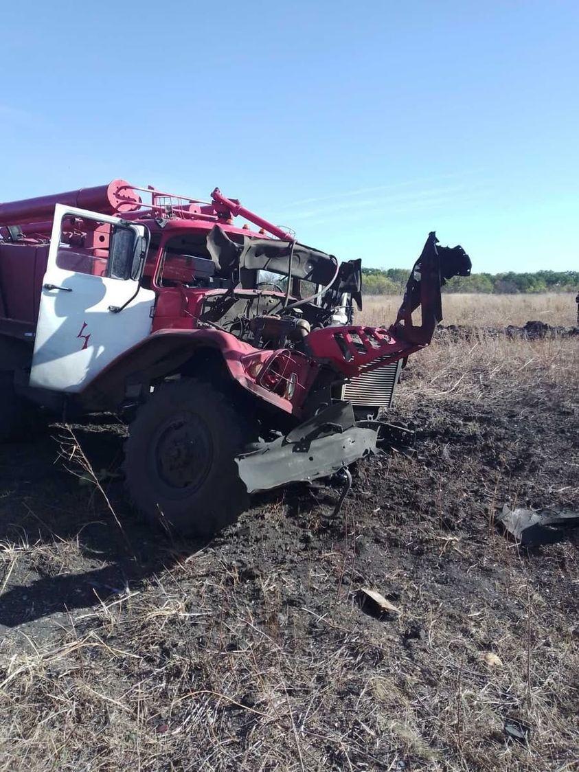 Поблизу Станиці Луганської підірвався автомобіль пожежників. Троє людей отримали травми
