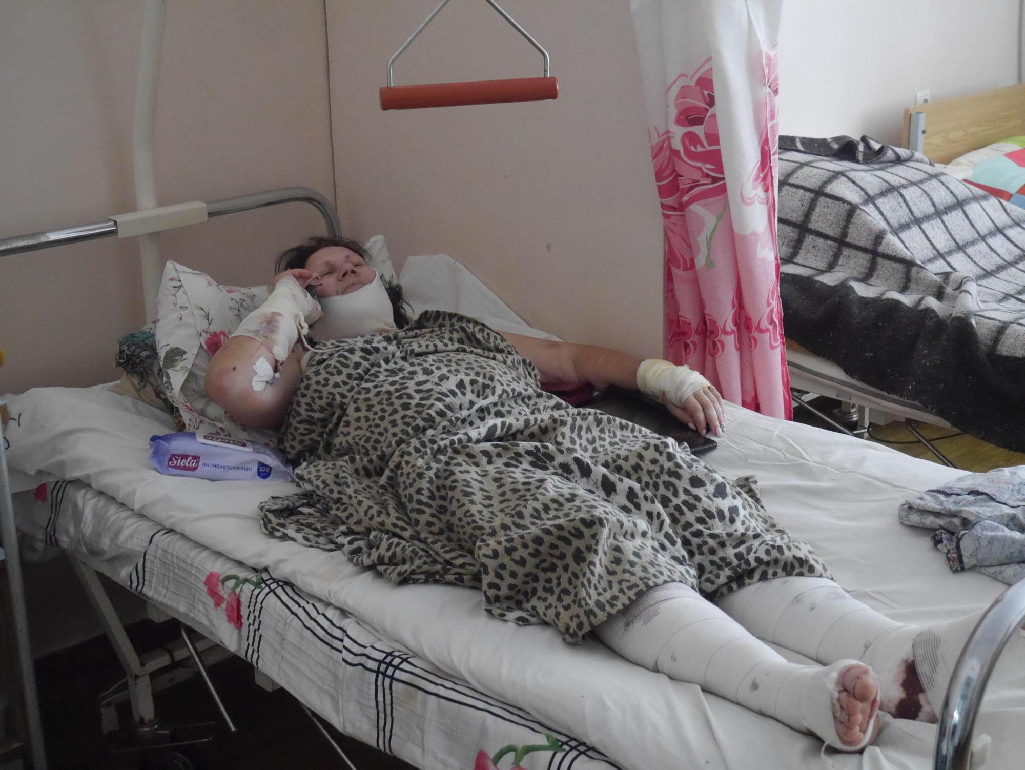 Валентина Бучок пострадавшая от взрыва подрыв на взрывном устройстве осколочные ранения