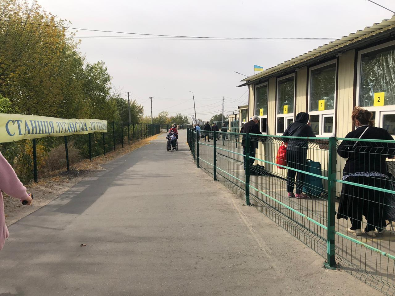 Во вторник работает только КПВВ на Луганщине. За прошедшие сутки там прошли 1600 человек