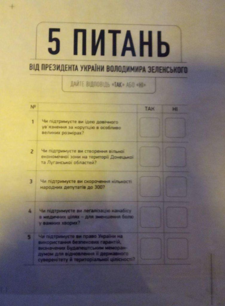 В день виборів українцям також поставлять 5 питань щодо майбутнього України (перелік)