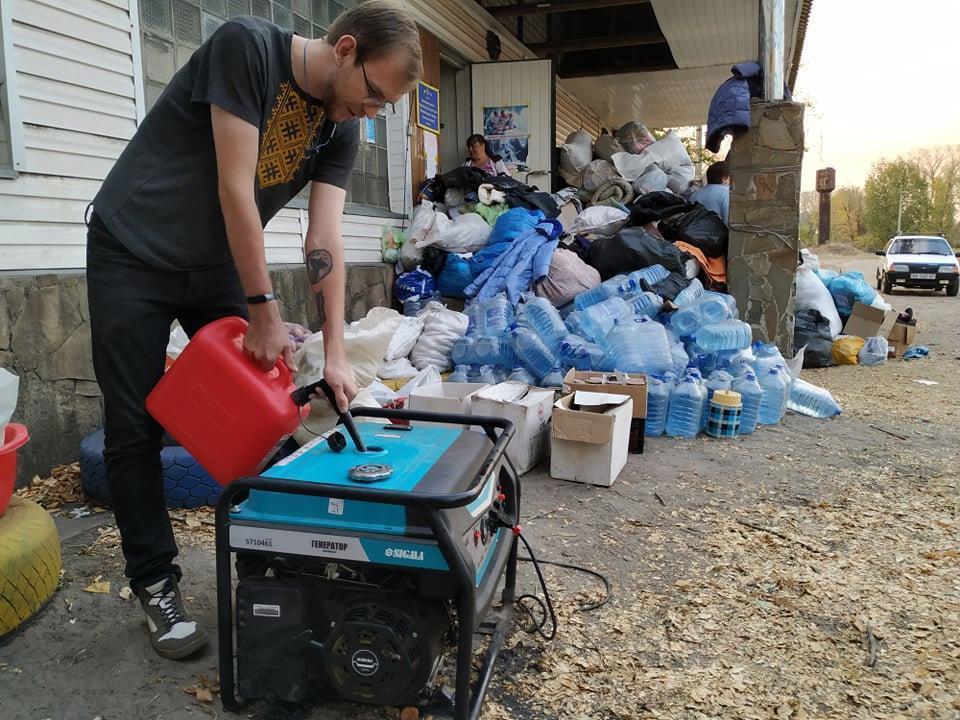 Луганская область пожар гуманитарная помощь