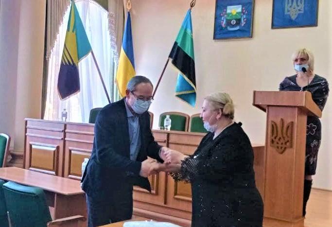 Зосім Йорохов депутат Бахмутська районна рада вручення посвідчень депутата