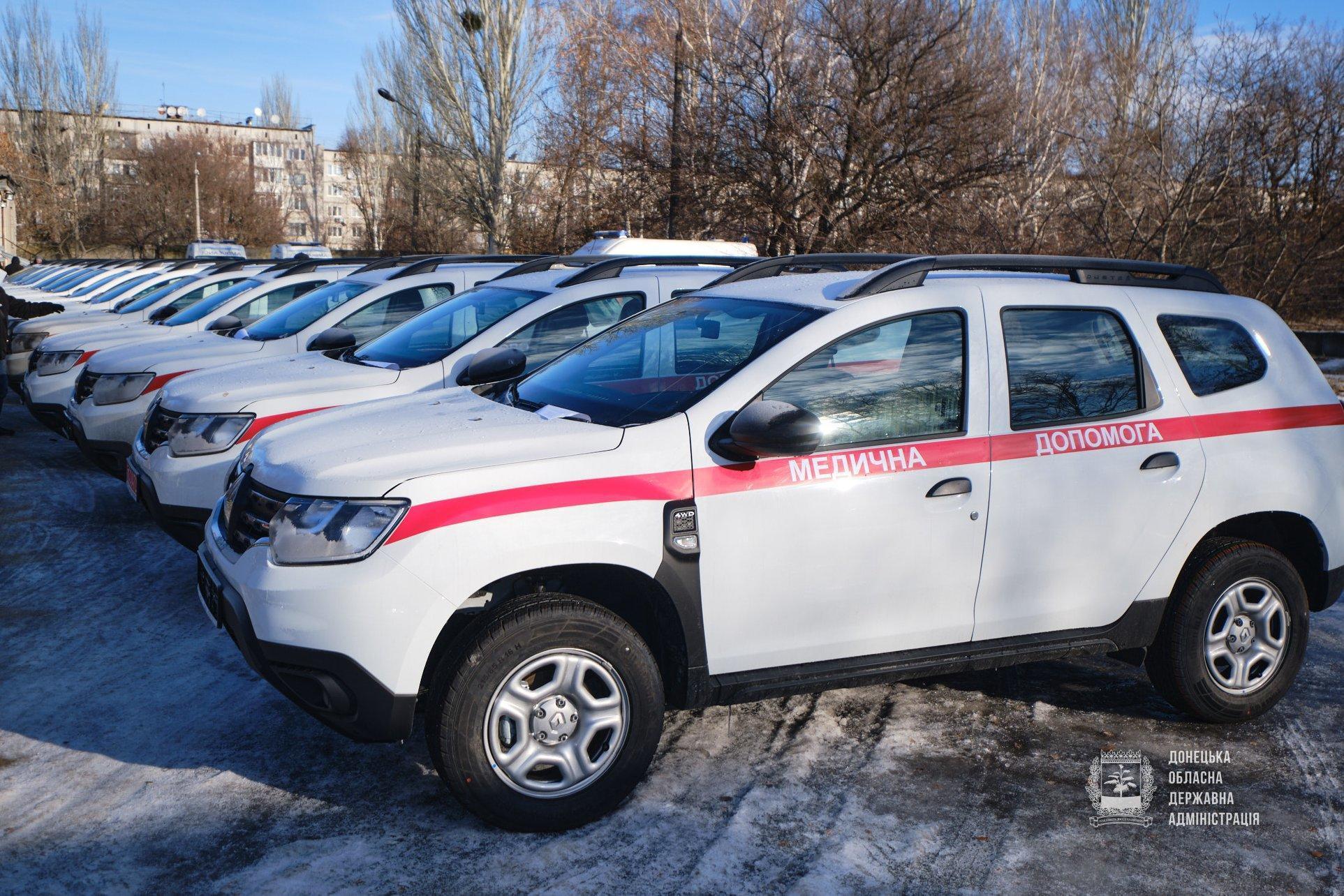 18 сельских амбулаторий Донетчины получили служебные внедорожники