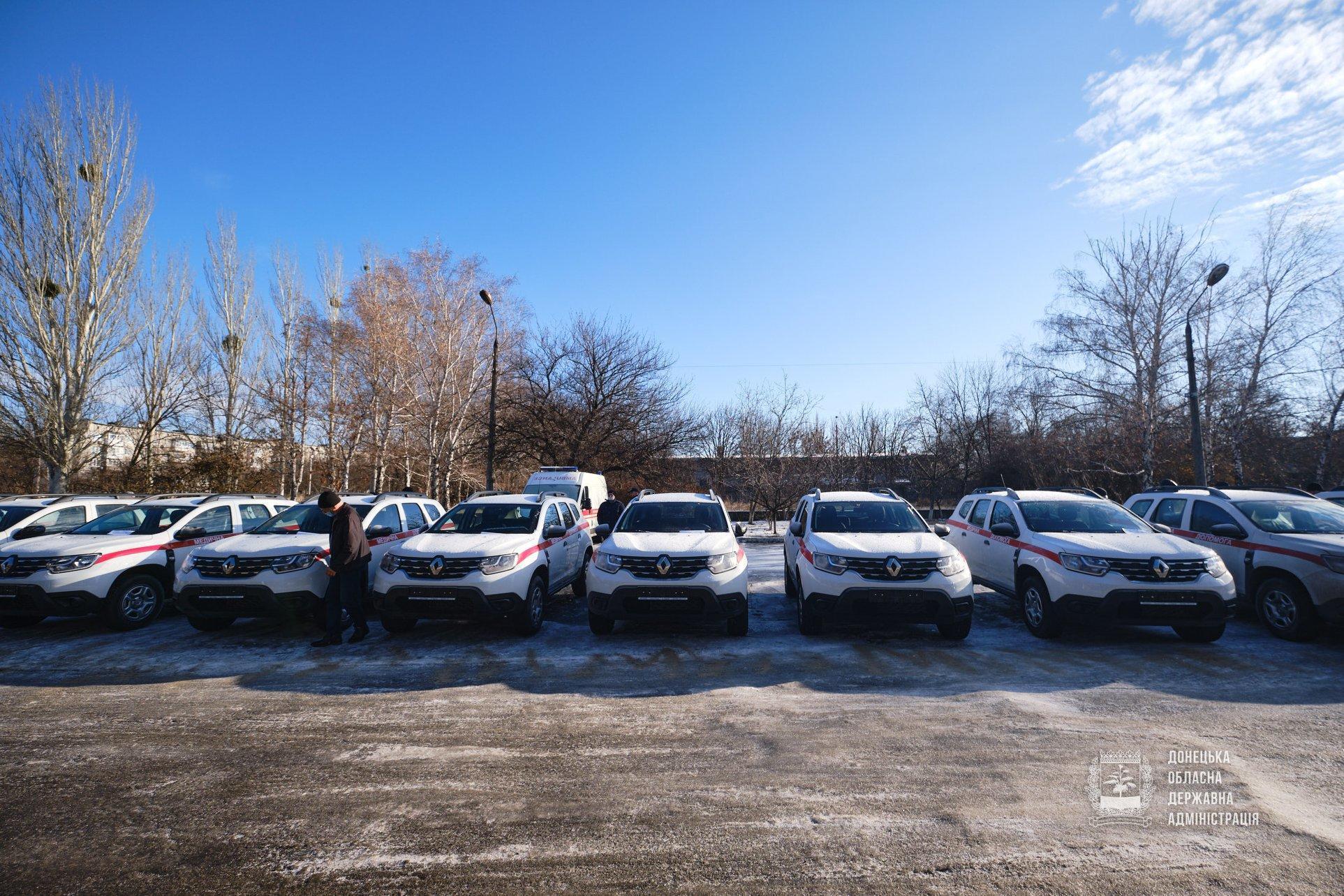 В 18 сельских амбулаторий Донецкой области закупили новые служебные автомобили