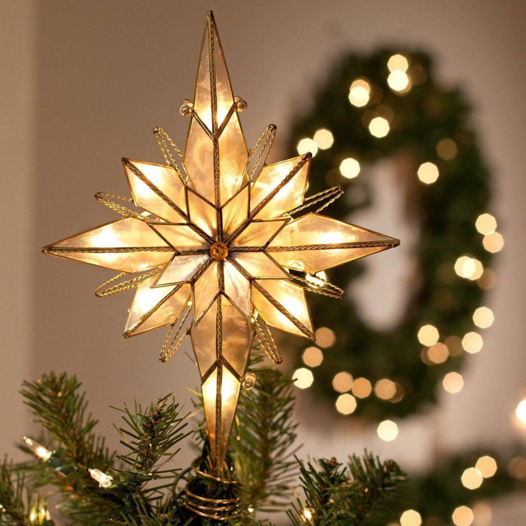 Восьмиконечная рождественская звезда, которой украшают елку украинские католики