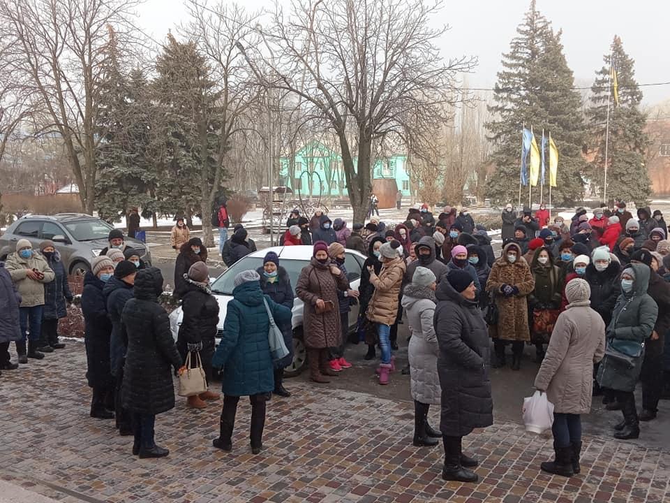 В Курахове люди протестовали против поднятия тарифов