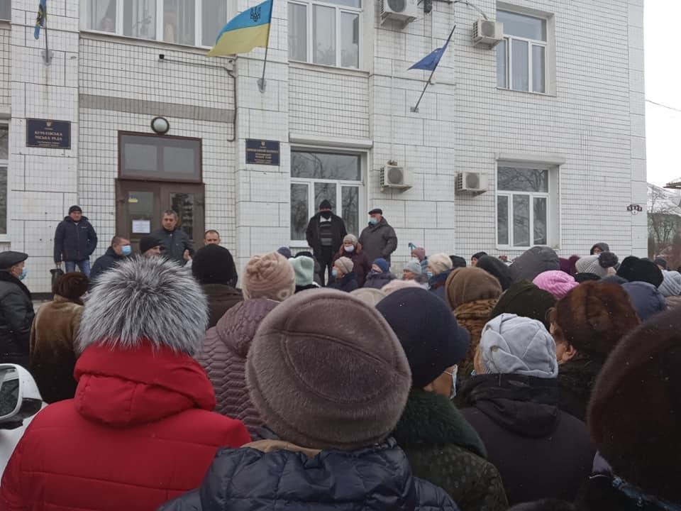Жители Курахова вышли на протест против роста цен на коммунальные услуги